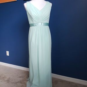 David's Bridal Mint Bridesmaid Dress